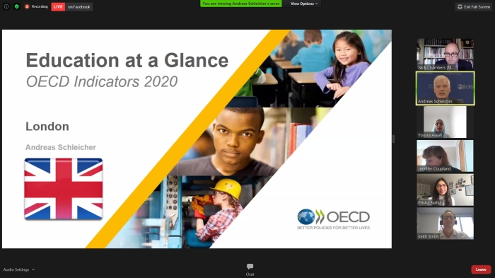 OECD launch of Education at a Glance 2020
